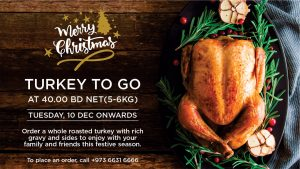 Order your Festive Turkey Feast from Wyndham Garden Manama
