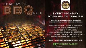 BBQ NIGHT AT TERRASSE @28, WYNDHAM GARDEN MANAMA